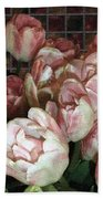 Dutch Tulips Dutch Tile Beach Towel
