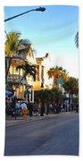Duval Street In Key West Beach Towel