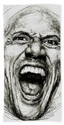 Dwayne The Rock Johnson Beach Towel