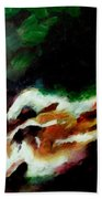 Dying Swan-abstract Beach Towel