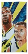 Dynamic Duo - Durant And Curry Beach Towel