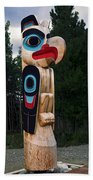 Eagle Clan Totem Pole Beach Towel