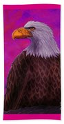 Eagle Crimson Skies Beach Towel