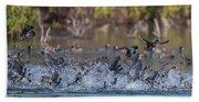 Eagle Induced Chaos Beach Towel