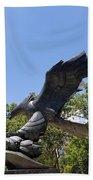 Eagle Statue  Beach Towel