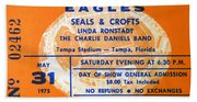 Eagles Tampa Stadium 1975 Beach Towel