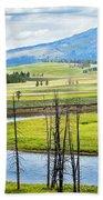 Eagles View, Hayden Valley, Yellowstone Beach Towel