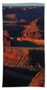 Early Morning Light Hits Dead Horse Point State Park Beach Towel