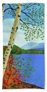 Early Autumn Birches Beach Towel