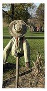 Early Autumn Scarecrow Beach Towel