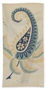 "Early Californian Skirt From The Portfolio ""decorative Art Of Spanish California"" Beach Towel"