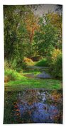 Early Fall At Montauk State Park  Beach Towel