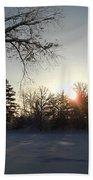 Early January Winter Sunrise Beach Towel