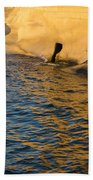 Early Morning Gold At Valletta Fortifications Beach Towel