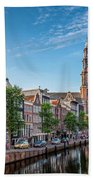 Early Morning In Amsterdam With Canal Beach Towel
