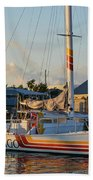 Early Morning In The Harbor Beach Towel