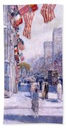 Early Morning On The Avenue In May 1917 - 1917 Beach Towel