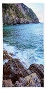 Early Morning Riomaggiore Cinque Terre Italy Beach Towel