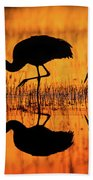 Early Morning Sandhill Cranes Beach Towel