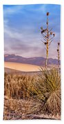 Early Morning Yucca - White Sands - New Mexico Beach Towel