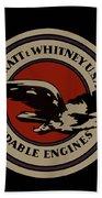 Early Pratt And Whitney Company Logo Beach Towel