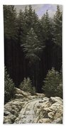 Early Snow Beach Towel by Caspar David Friedrich