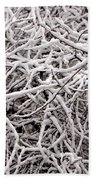 Early Spring Snow Beach Towel