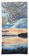Early Spring Sunset Beach Towel