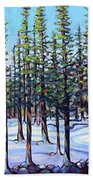 Early Spring, Trees In Training Beach Towel