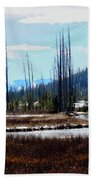 Early Winter On The Yellowstone Beach Towel