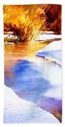 Early Wyoming Snow Beach Towel