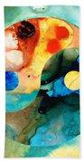 Earth Balance - Yin And Yang Art Beach Towel