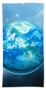 Earth Beach Towel by Corey Ford