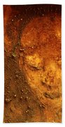 Earth Face Beach Towel