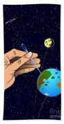 Earth Like An Inflatable Balloon Beach Towel