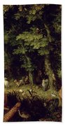 Earth Or The Earthly Paradise Beach Towel by Jan the Elder Brueghel