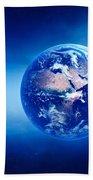 Earth Sunrise Deep Space Beach Sheet