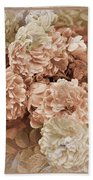 Earth Toned Roses Beach Towel