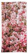 Earth Tones Apple Blossoms  Beach Towel