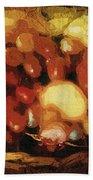 Earthtone Fruit Fresco Beach Towel