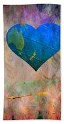 Earthy Heart Beach Towel