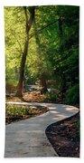 Earyl Morning Walk Through Honor Heights Park Beach Towel