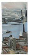 East River From Shelton Hotel Beach Towel