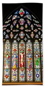 East Stained Glass Window Christ Church Cathedral 1 Beach Towel