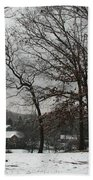 East Tennessee Winter Beach Towel