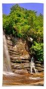 Eastatoe Falls/twin Falls 2 Beach Towel