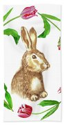 Easter Background Beach Towel