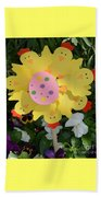 Easter Chick Decoration Beach Towel