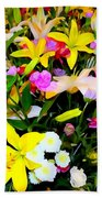Easter Flowers Beach Towel