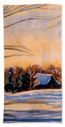 Eastern Townships In Winter Beach Towel